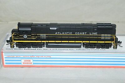 N scale Atlas Atlantic Coast Line RR Alco C-628 locomotive train DCC READY