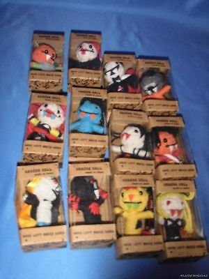 WHOLESALE LOT OF 12 BLACK MAGIC VAMPIRE VOODOO DOLLS vudu voodo yarn voo doo new