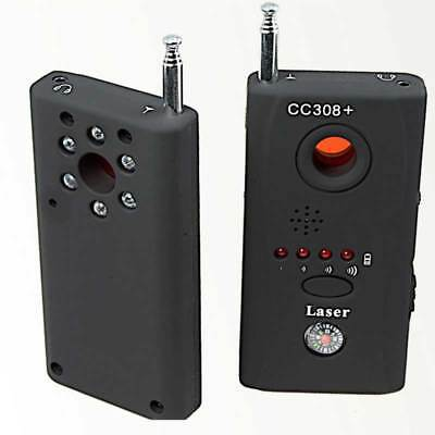 Laser Camera Detector Finder Anti-Spy RF Signal Bug Detector Hidden Laser Lens