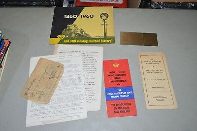 Lot Set of Lehigh & Hudson River RR Employee Timetable ticket booklet brochures