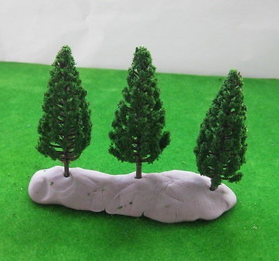 S8532 30pcs Model Pine Trees Deep Green For HO OO Scale Layout 85mm New
