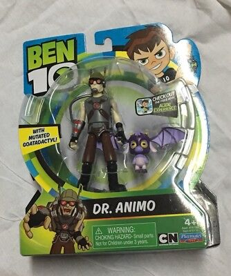"""Ben 10 2017 Dr. Animo 4"""" Action Figure with Mutated Goatadactyl New"""