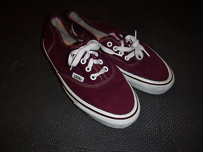 Vintage 1970's Vans Shoes Women's Size 8 Made In The Usa L@@k