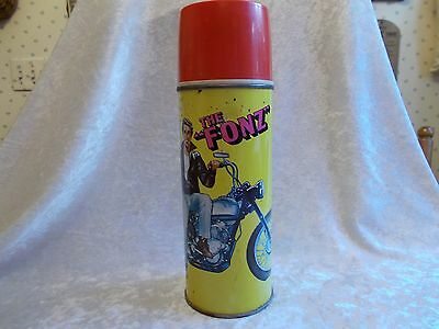 "Vintage 1976 King Seeley ""The Fonz"" Henry Winkler Metal Large Thermos"