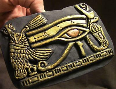 EYE OF HORUS Egyptian Symbol of Divinity & Protection relief fragment