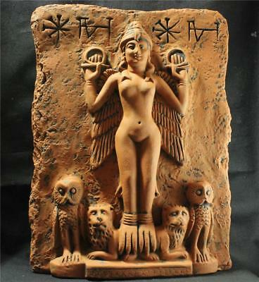 """GODDESS ISHTAR """"Queen Of The Night"""" Babylonian Goddess relief reproduction"""