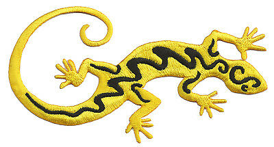 Thermo shield embroidered patch Gecko Salamander exclusive patch decorative