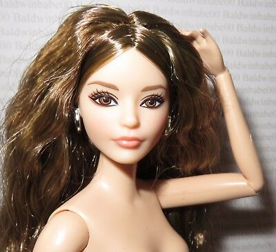 Nude Barbie ~ Brunette Look City Chic Karl Articulated Model Muse Doll For Ooak