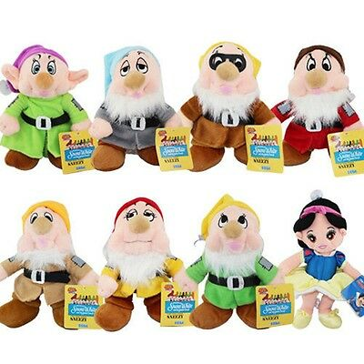 Disney Snow White princess and the seven Dwarfs Plush Doll Toy X'mas Gift US