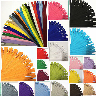 5-10pcs 3# Nylon Coil Zippers Tailor Sewer Craft 30cm(12Inch) Crafter's &FGDQRS