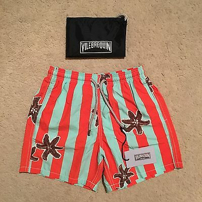Vilebrequin Jam Starfish Striped Swim Shorts / Trunks Boys Size 10Y RRP: £110.00