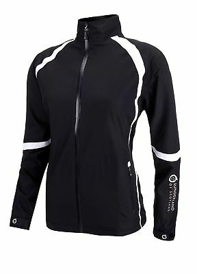 Sunderland Ladies Dolphin Waterproof Golf Jacket Black/White Large