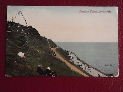 Postcard CAPSTONE SLOPES ILFRACOMBE Valentine Series  Posted 1911