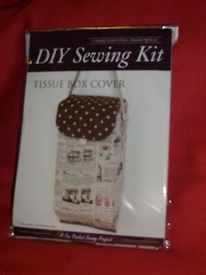 New One Diy Tissue Box Cover Sewing Kit Ready To Sew Black And White