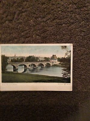 Postcard Kelso Bridge And Abbey