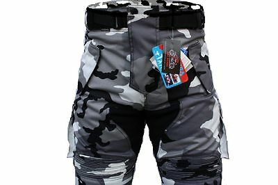Men Motorcycle Trousers Armour Protection Wind Waterproof CE Armour Camo Pants