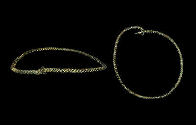 Huge Viking Bronze Neck Torc - Big Enough to Wear!