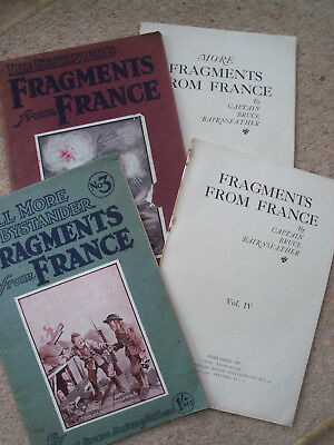 WW1 Fragments from France Vols 1-4 Bruce Bairnsfather cartoons