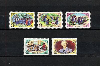 ALAD 014 BELIZE Girl Scouts & Girl Guides 1985 MNH