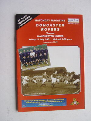 Doncaster Rovers v Manchester United 2001/02 Friendly