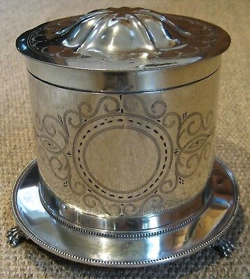 Antique Mappin & Webb Silver Plated Biscuit Barrel c.1870's