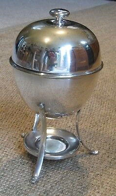 Art Deco Dimmer Liverpool Silver Plated Egg Warmer or Coddler c.1930's