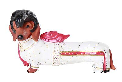 Elvis Presley the King Red Doxy Dachshund Dog Figurine Collection