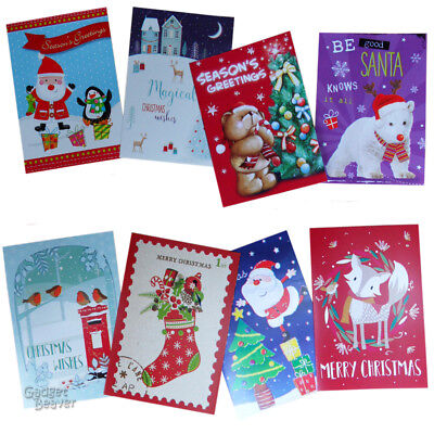 40 Pack Christmas Cards Xmas Card Traditional Cute Assorted & Envelopes