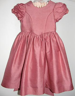 Laura Ashley vintage mother & child label blush dupioni silk party dress 2 years