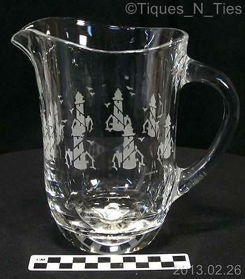 Lenox Italian Crystal Beverage Pitcher Lighthouse Seaside Nautical Design (FF)