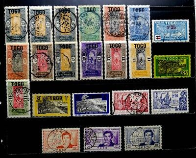 Togo, France: 1921-39 Classic Era Stamp Collection Many Cds Cancels
