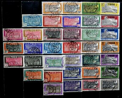 Togo, France: 1924-38 Classic Era Stamp Collection With Cds Cancellations