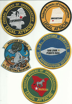 5 only,  MISC. U.S.A. FEDERAL POLICE  Patches