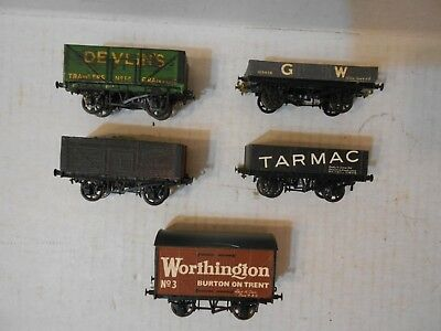 Oo Scale, British, Freight Wagons, Assorted, 5 Cars, Peco