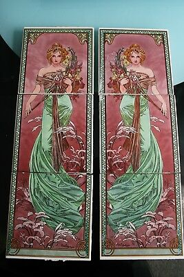 Fireplace Tiles Mucha 1900