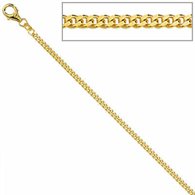 Panzerkette 333 Gelbgold diamantiert 1,3 mm 50 cm Gold Kette Halskette Goldkette