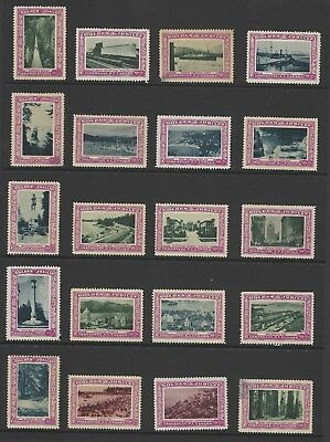 Canada 1936 Golden Jubilee unused labels on two stockpages