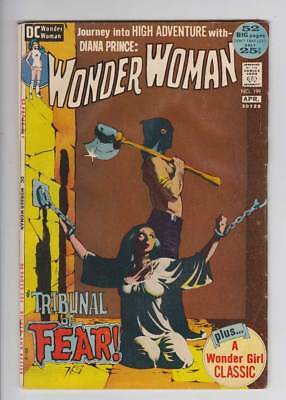 Wonder Woman # 199  Tribunal of Fear ; Jeff Jones !  grade 3.0 scarce book !