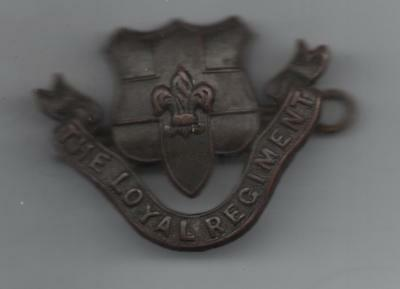 W.w.2. The Loyal Regiment. Officers. Collar Badge.