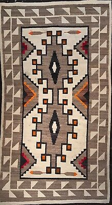 Sensational c.1920 J.B.Moore Trading Post NAVAJO CRYSTAL RUG, Super Finely Woven