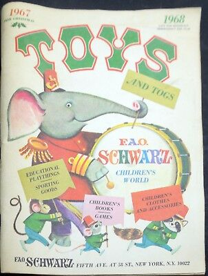 FAO Schwarz Toy Store-Toy Catalog 1967-1968-Dolls-Exclusives-150 Pages-RCKD