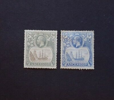 Ascension, 1924, SG13 and 14, M/M
