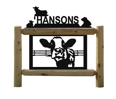Holstein Cows-Fence-Farm-Ranch Decor-Country Living-Cow-Gifts