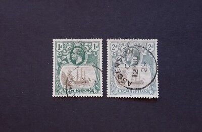 Ascension, 1924, SG11 and 13, used