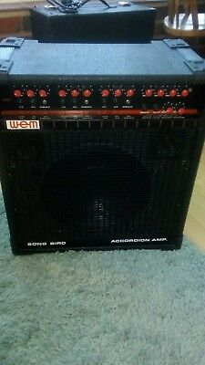 Classic and Rare Vintage WEM Songbird 300 Accordion Amplifier Great Condition.