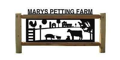 Cows-Barns-Chickens-Roosters-Farm & Ranch Decor-Log Fence