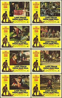 LAST TRAIN FROM GUN HILL orig lobby card set KIRK DOUGLAS 11x14 movie posters