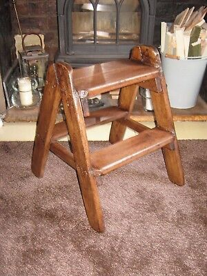 Vintage Wooden Steps/Wooden Step Ladder/Library Ladder/Library Steps