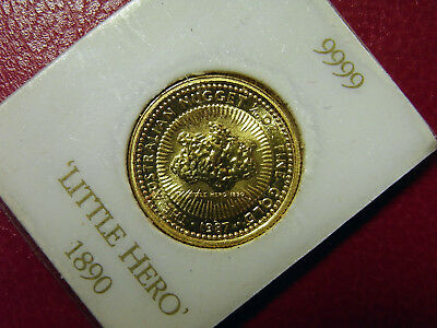 AUSTRALIEN 15 Dollar 1987 Gold ST - Nugget - Little Hero - 1/10 Unze