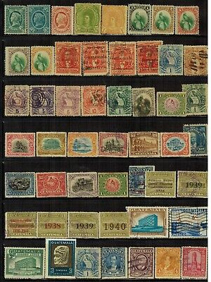 Lot of Guatemala Old Stamps Used/MH